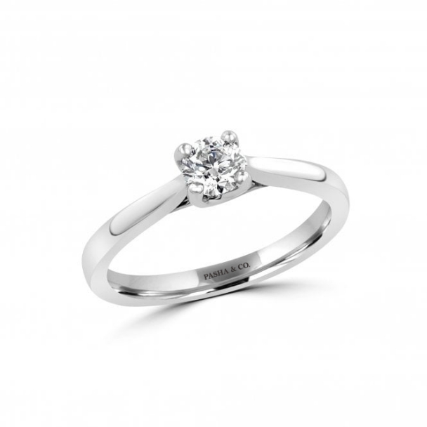 0,36 CT SOLITAIRE DIAMOND RING