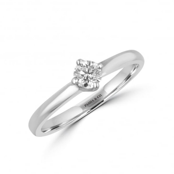0,20 CT SOLITAIRE DIAMOND RING