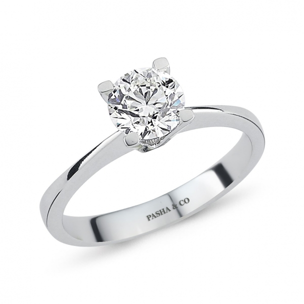 0,84 CT SOLITAIRE DIAMOND RING